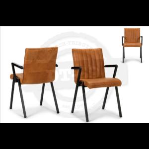 Industriële stoel Line - met armleuning S002