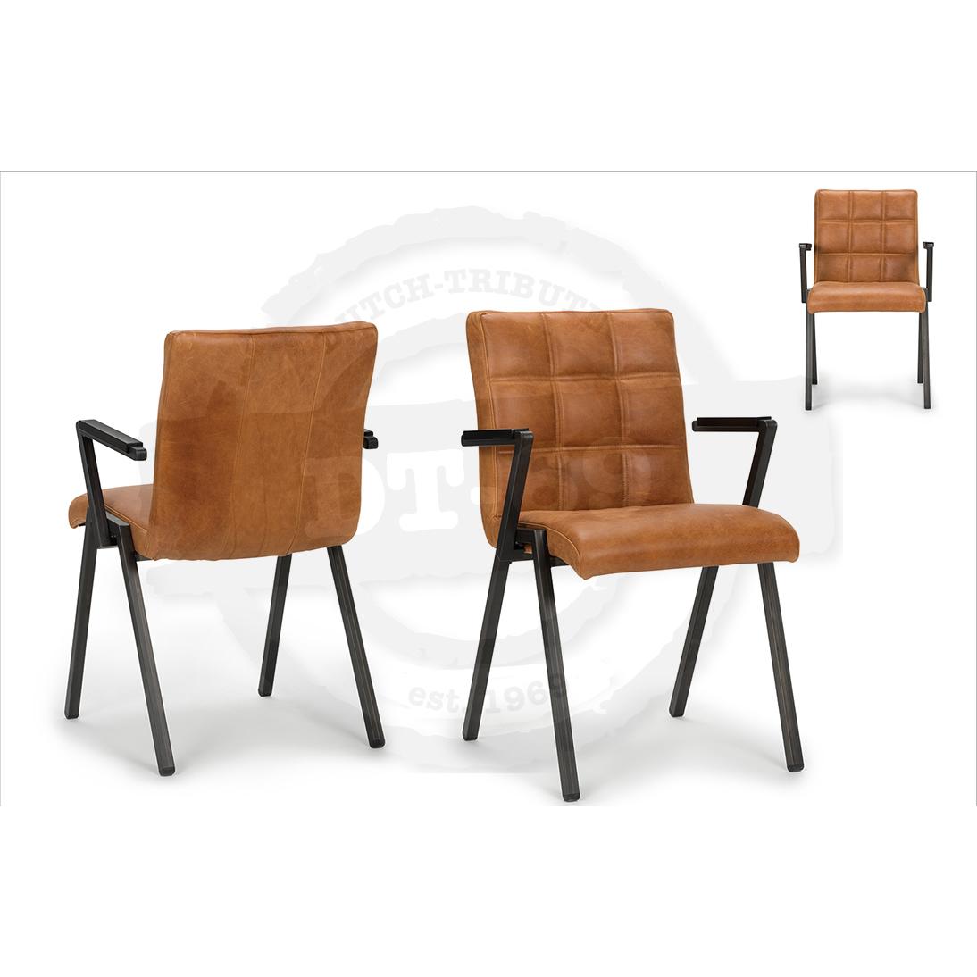 Industriële stoel Check - met armleuning S006