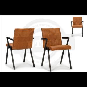 Industriële stoel Square - met armleuning S010