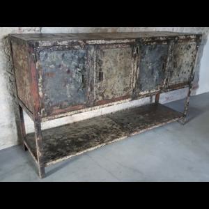 Vintage industriële stalen werkkast IND649