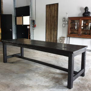 Landelijke tafel oud eiken, Frans model - H004
