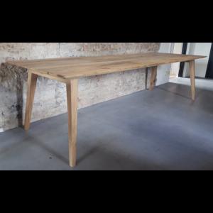 Retro tafel Nordic gemaakt van oud eiken en staal Z004