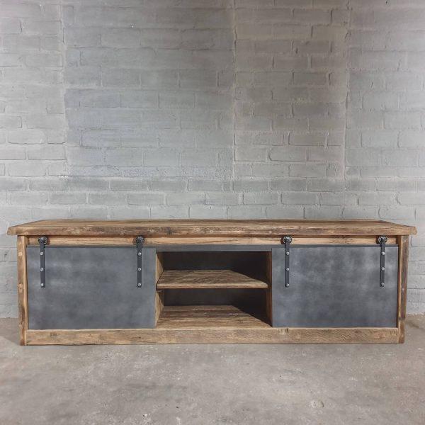 industriele-tv-kast-oud-eiken-met staal