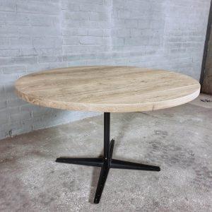 ronde-eettafel-industrieel-design-rustiek-eiken-tafelblad-4cm-dik-dt20